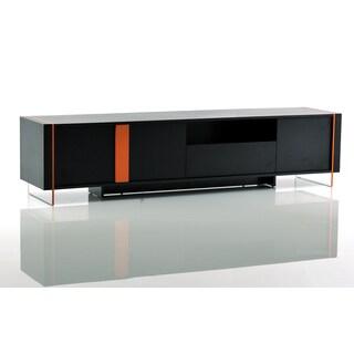 Modrest Vision - Modern Black Oak Floating TV Stand