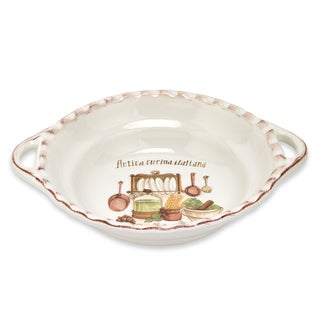 Italian Cucina 17-inch Round Bowl with Handles
