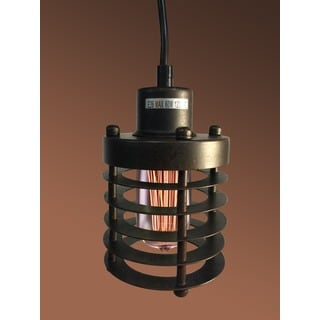 Bailey 1-light Black 4-inch Edison Pendant Lamp