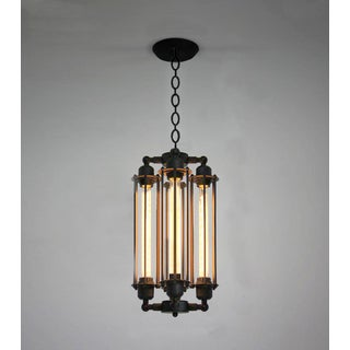 Cassidy 4-light Black 20-inch Edison Chandelier