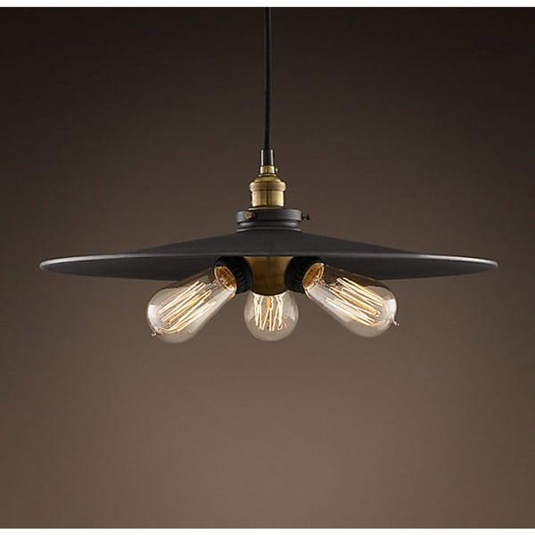 Height Adjustable Louisanne Pendant Light: Shandi 3-light Black Adjustable Height 16-inch Edison