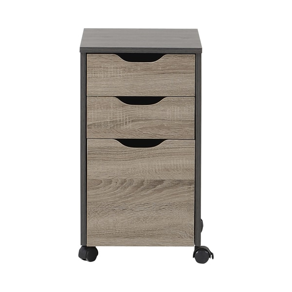 Homestar 3-drawer Reclaimed Wood Filing Cabinet