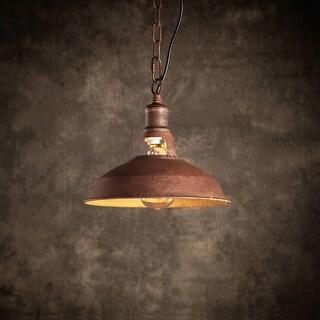 Belle 1-light Rusty Steel 11-inch Edison Chandelier