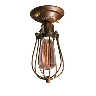 Kinsey 1-light Antique 5-inch Edison Flush Mount