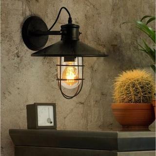 Jess 1-light Black 11-inch Edison Wall Lamp