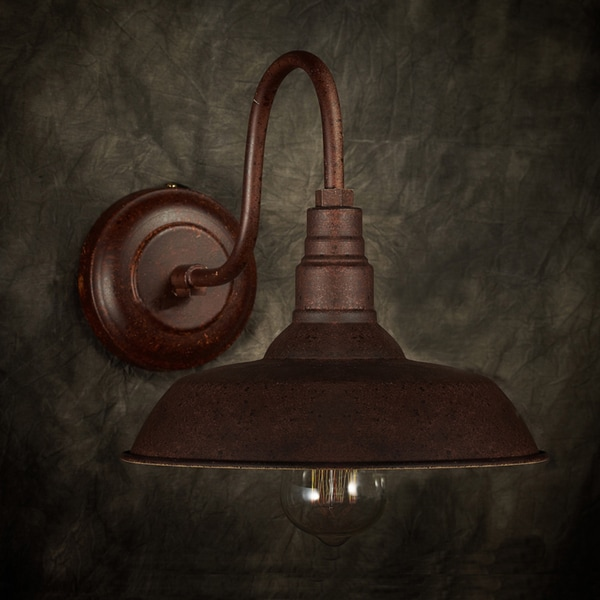 Nellie 1-light Rusty Steel 10-inch Edison Wall Lamp