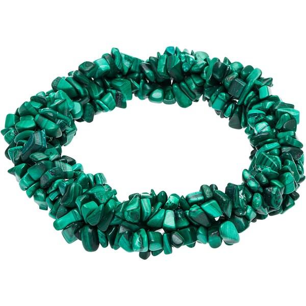Green Malachite 6-inch Stretch Bracelet