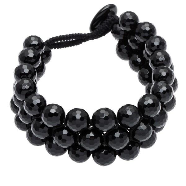 Black Agate Toggle 7.5-inch Bracelet