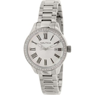 Nautica Women's BFD 101 N14681M Mother-of-Pearl Stainless Steel Quartz Watch