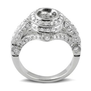 14k White Gold 1 1/5ct TDW Round Diamond Bridal Semi-mount Engagement Ring (H-I, I1-I2)
