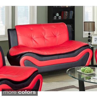 Ceccina Modern Leather Living Room Loveseat