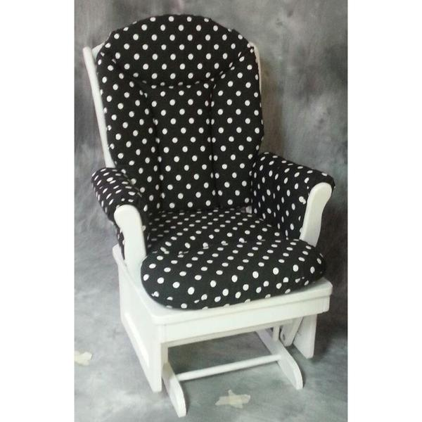 Glider Rocker, White Dots