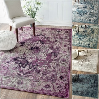 nuLOOM Oriental Vintage Viscose Traditional Fancy Rug (5'2 x 8')