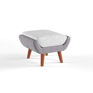 Simple Living Elijah Heather Grey Ottoman