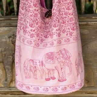 Cotton 'Pink Siam' Shoulder Bag (Thailand)