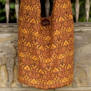 Handcrafted Cotton 'Brown Thai Goth' Sling Bag (Thailand)