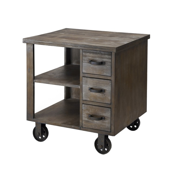 Madison Park Cirque Accent End Table on Wheels