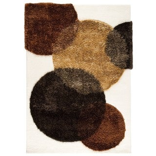 Indo Hand-tufted CircOLife Natural Wool Area Rug (4'6 x 6'6)