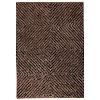 Indo Hand-tufted Buff Brown Wool Area Rug (5'6 x 7'10)