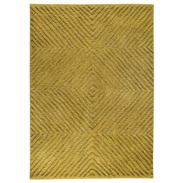 Indo Hand-tufted Buff Green Wool Area Rug (5'6 x 7'10)