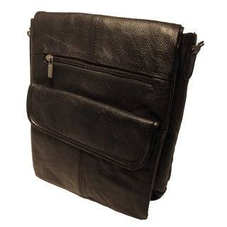 Continental Leather Crossbody Messenger Bag with Credit Card Slots and Dedicated Tablet Zippered Comaprtment