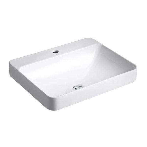 Kohler Vox Above Counter Bathroom Sink in White