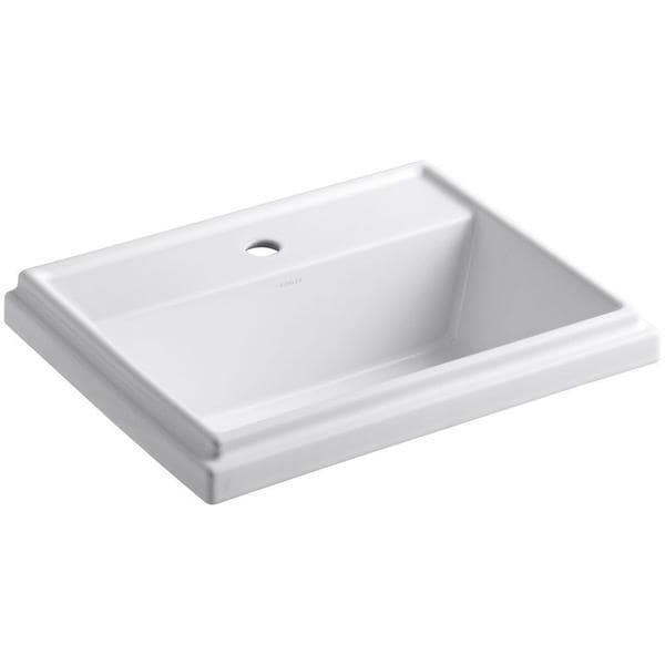 Kohler Tresham Drop-in Bathroom Sink in White - 17413335 - Overstock ...