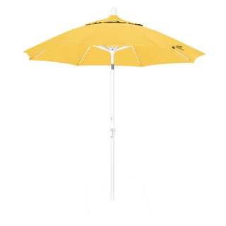 Somette 9-Foot Market Umbrella with Matted White Finish and Olefin Fabric