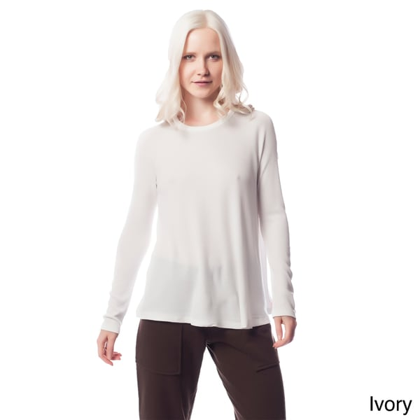 AtoZ Women's Thermal Crewneck Top