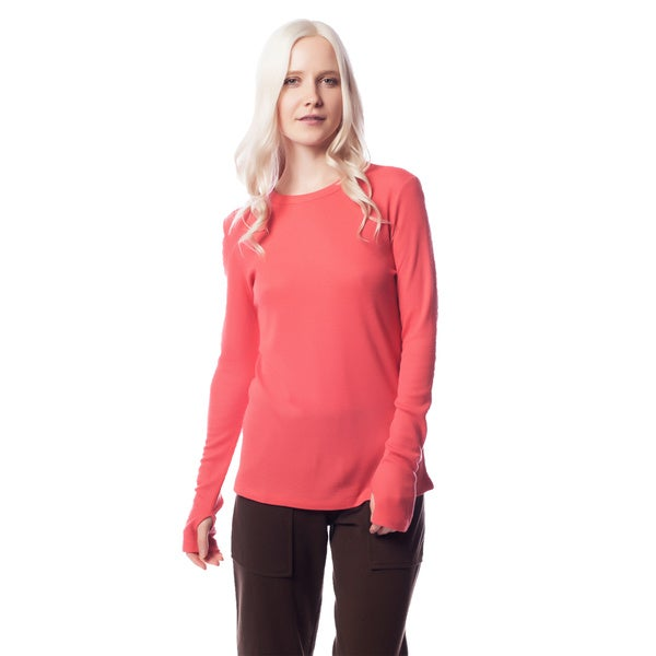 AtoZ Women's Thermal Thumb-hole Top