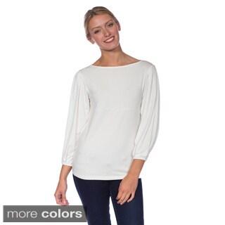 AtoZ Women's Modal Full Long Sleeve Tunic Top