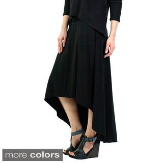 Women's Hi-Low Bamboo Skirt
