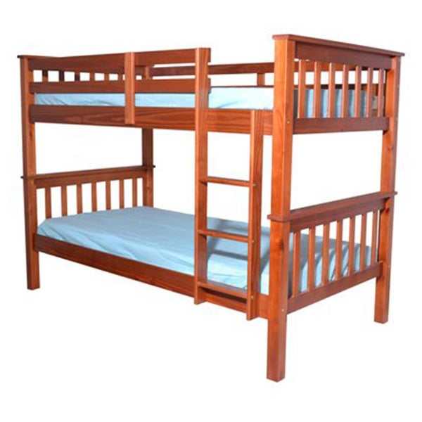 Mission Style Pine Wood Twin Bunk Bed
