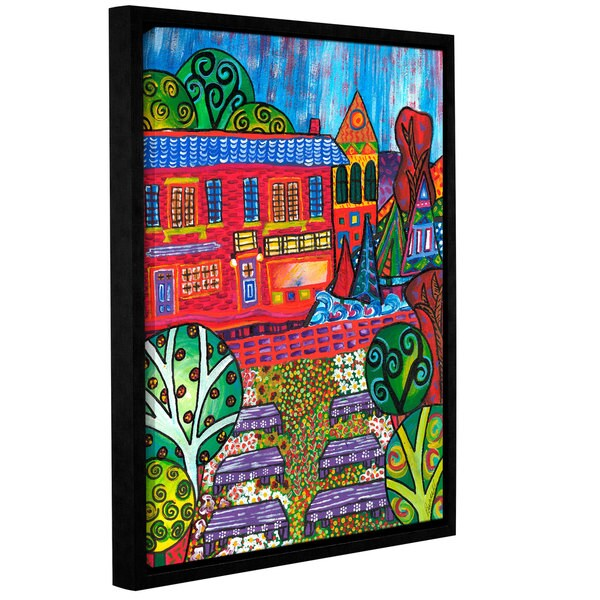 ArtWall Debra Purcell 'Pet Store (Same As 006)' Gallery-wrapped Floater-framed Canvas
