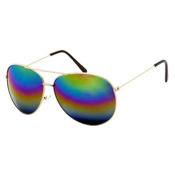 Rainbow Mirrored Aviator Sunglasses