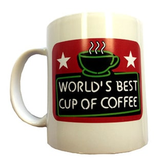Elf World's Best Cup of Coffee 11-ounce Ceramic Mug