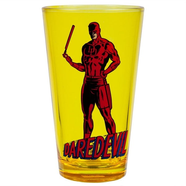 Daredevil Baton Yellow 16-ounce Pint Glass