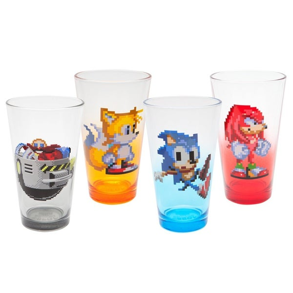 Sonic the Hedgehog 16 Bit 4-pack Pint Glasses
