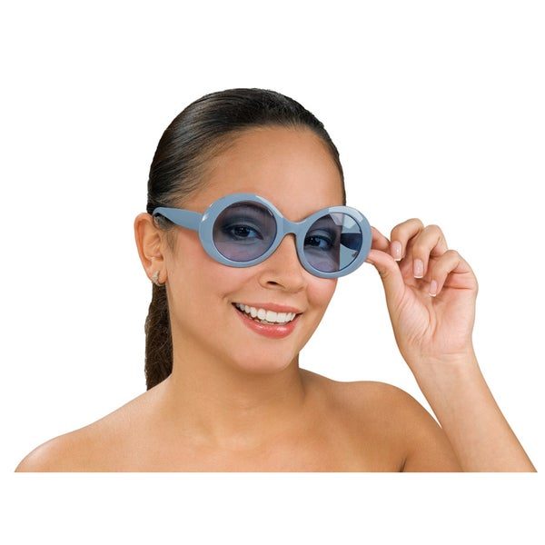 Round Retro Blue Sunglasses