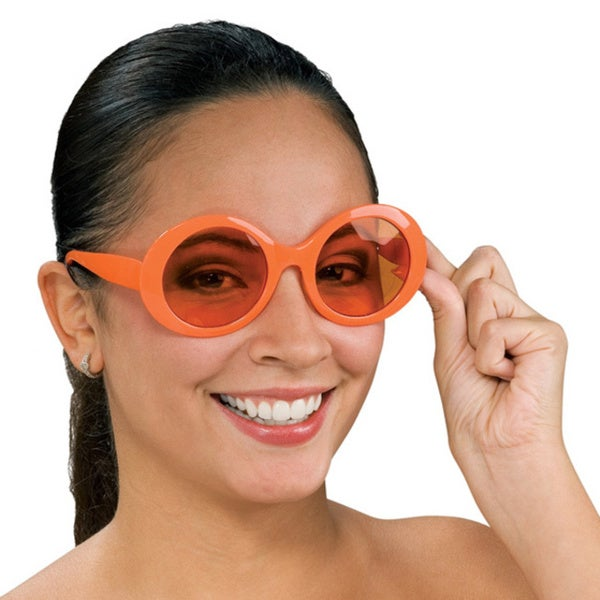 Round Retro Orange Sunglasses