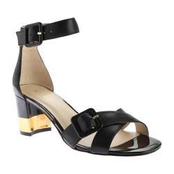 Women's Nine West Trax Ankle Strap Sandal Black Leather