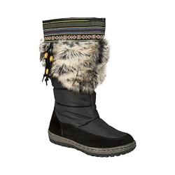 Women's Wanderlust Ivana Wide Calf Snow Boot Black/Black Suede