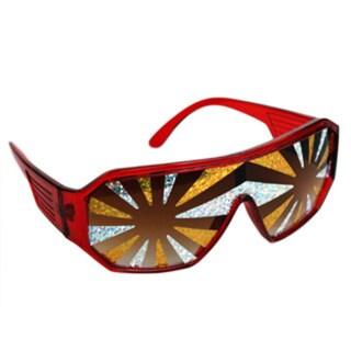 Macho Man Gold Silver Starburst Sunglasses