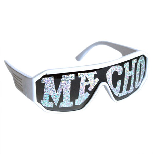 Macho Man White Macho Sunglasses