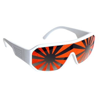Macho Man White Orange Starburst Sunglasses