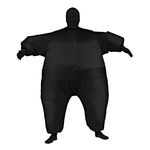 Black Infl8s Fat Suit Inflatable Costume