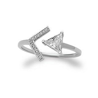 La Preciosa Sterling Silver Cubic Zirconia Open Ring
