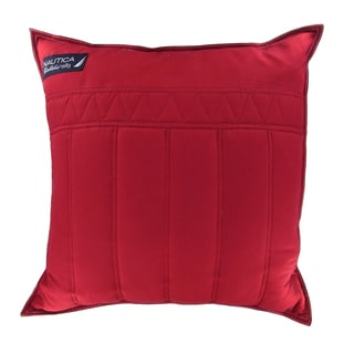 Nautica Mainsail 20-inch Red Decorative Pillow