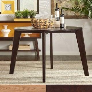 MID-CENTURY LIVING Sasha Modern Angled Leg Round Dining Table