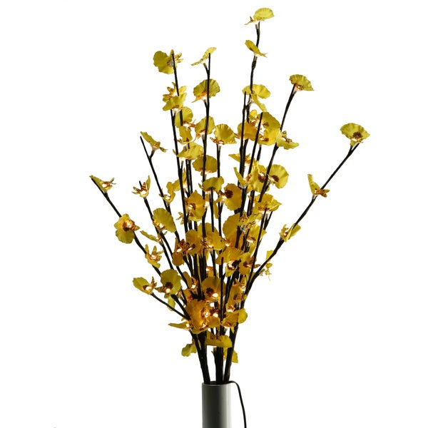 D and W Silks Lighted Yellow Ginger (20 Lights)